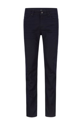 Slim-fit jeans in blue-black Italian denim, Dark Blue