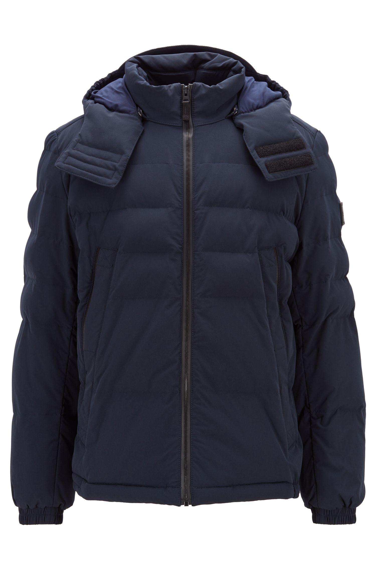 Waterafstotende jas van viervoudig stretchmateriaal met vulling, Donkerblauw