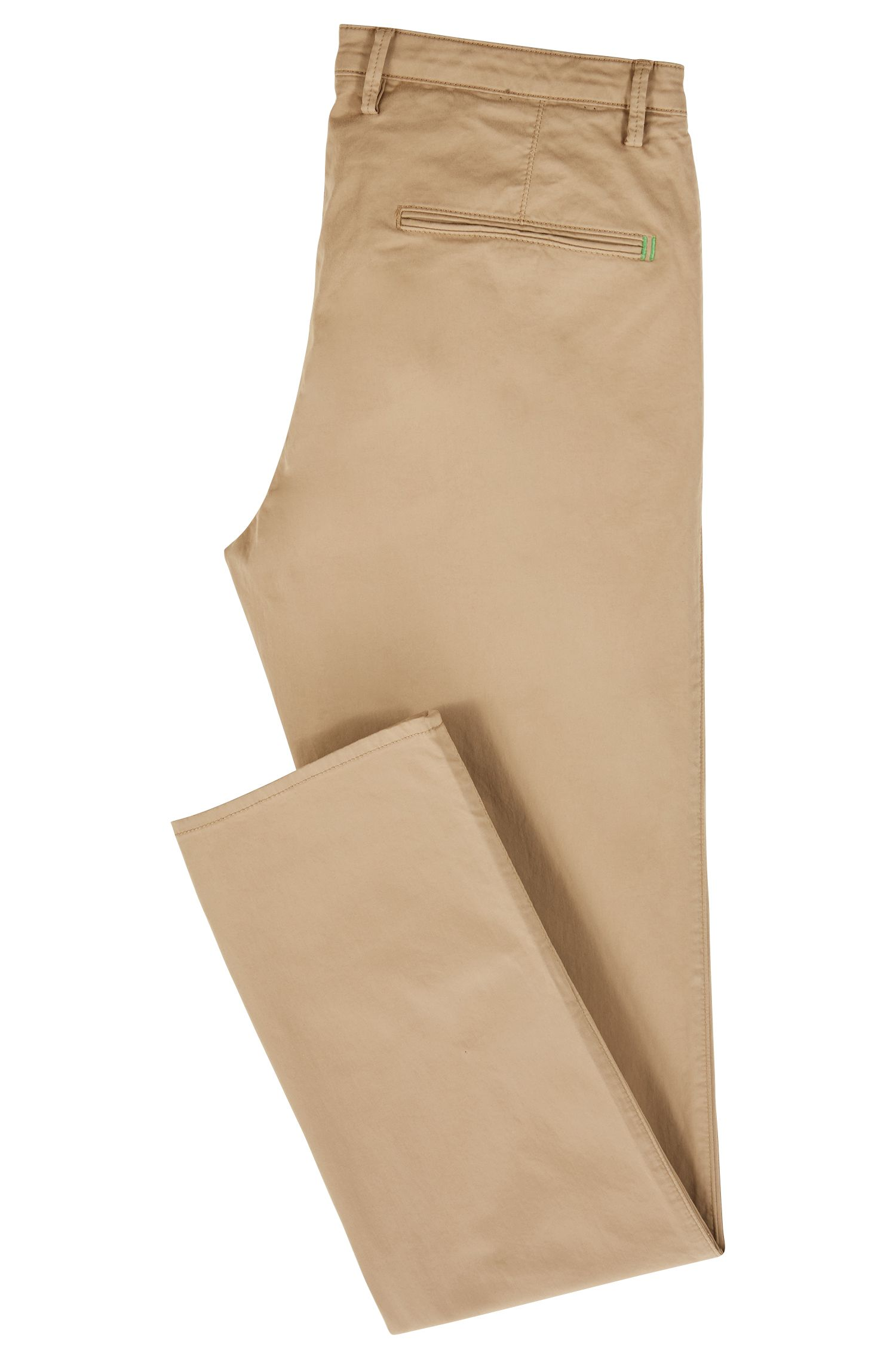 Slim-Fit Chino aus weich angerauter Stretch-Baumwolle, Beige