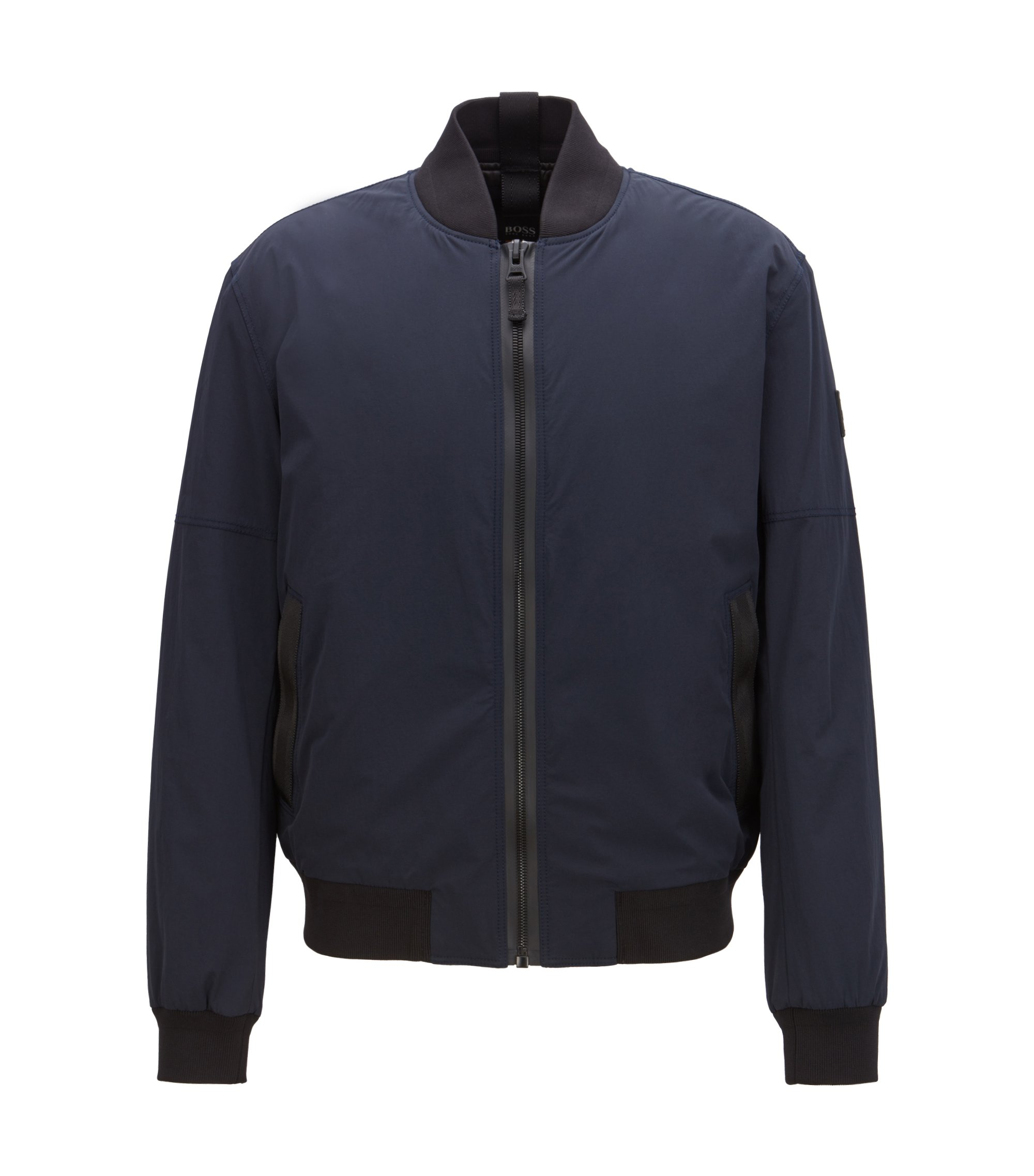 Water-repellent bomber jacket with PrimaLoft® padding, Dark Blue