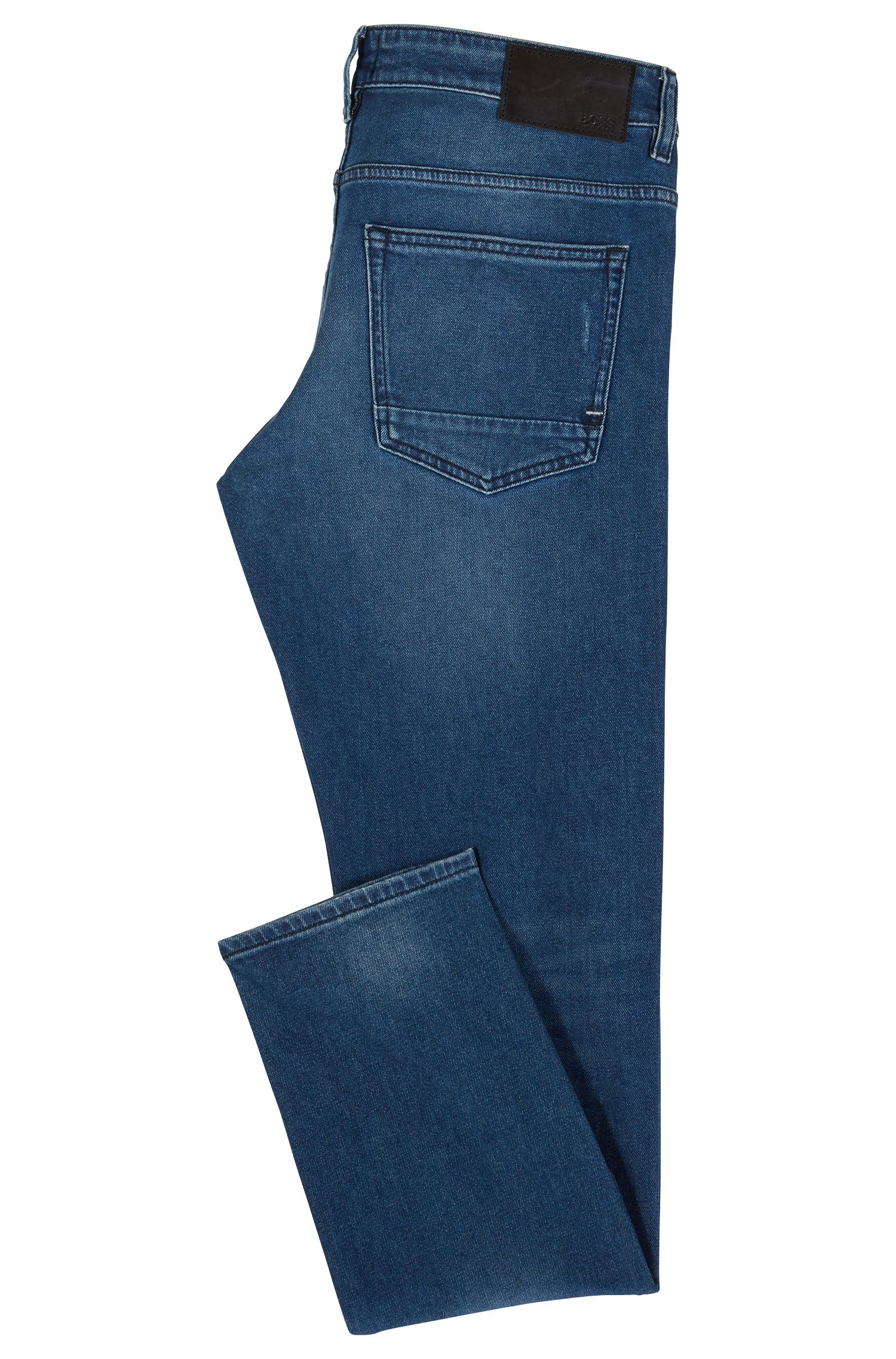 Slim-fit jeans in eco-friendly Spanish stretch denim, Dark Blue
