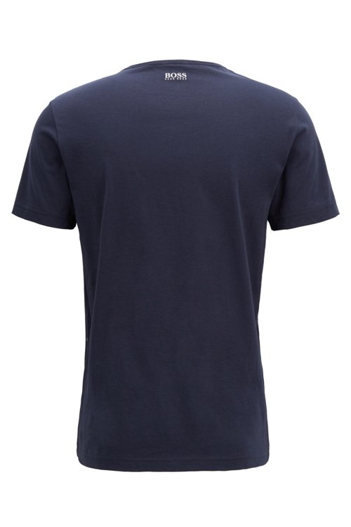 Hugo Boss - Camiseta regular fit con ilustración de logo en punto de algodón - 3
