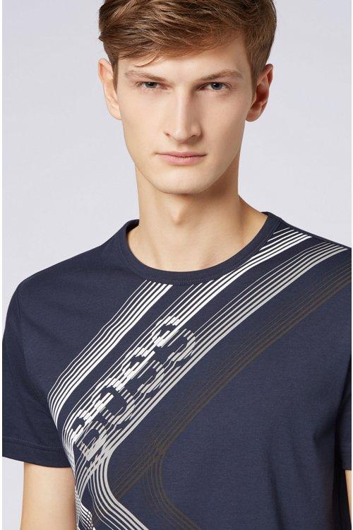 Hugo Boss - Camiseta regular fit con ilustración de logo en punto de algodón - 4