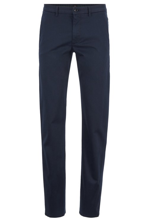 Hugo Boss - Pantalones regular fit en tejido elástico de tacto satinado - 1