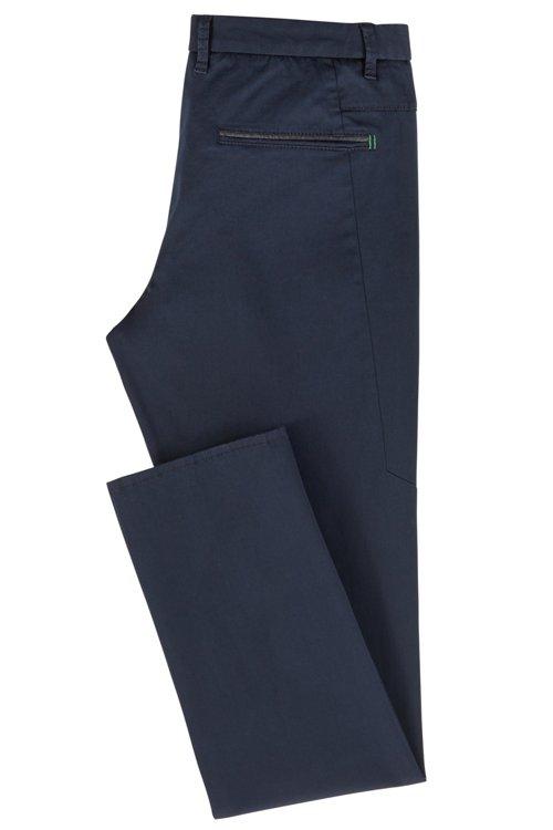 Hugo Boss - Pantalones regular fit en tejido elástico de tacto satinado - 3
