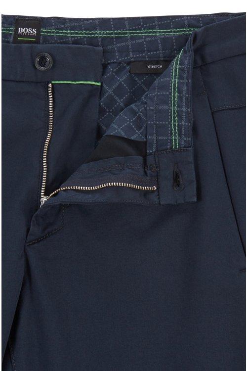 Hugo Boss - Pantalones regular fit en tejido elástico de tacto satinado - 4