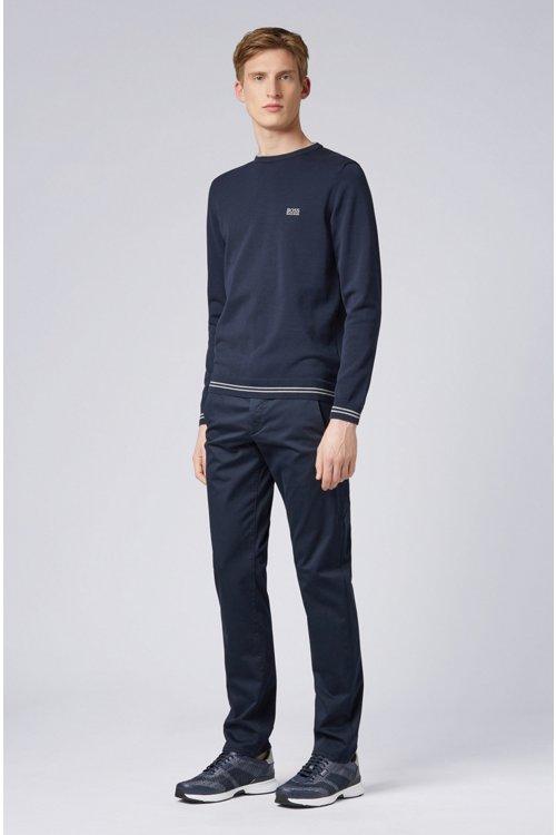 Hugo Boss - Pantalones regular fit en tejido elástico de tacto satinado - 2