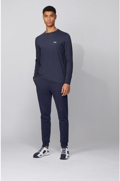 Hugo Boss - Camiseta de manga larga de algodón con logo de goma en el hombro - 2