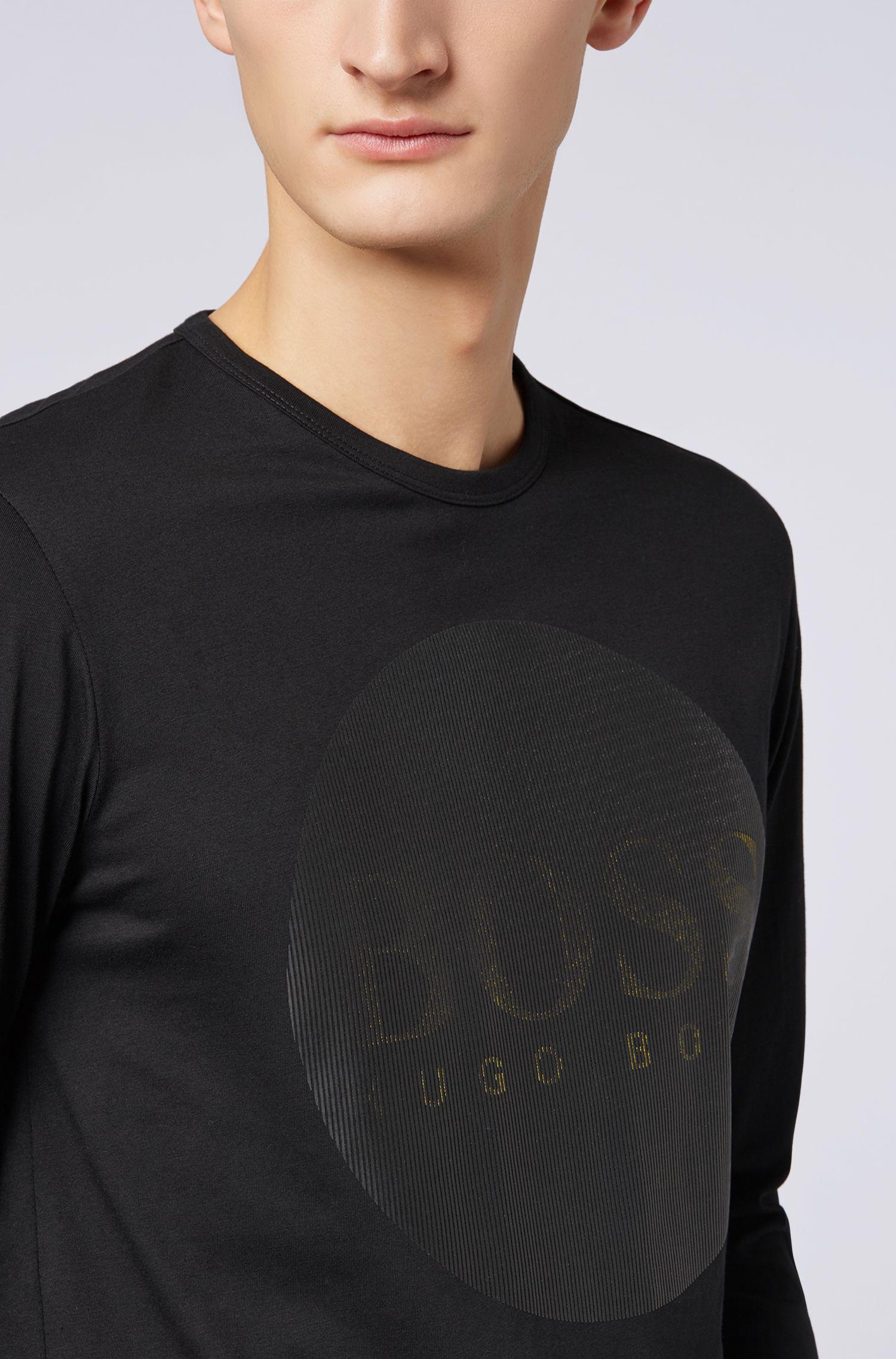 T-shirt met lange mouwen en Chinees Nieuwjaar-print, in een cadeaubox, Zwart