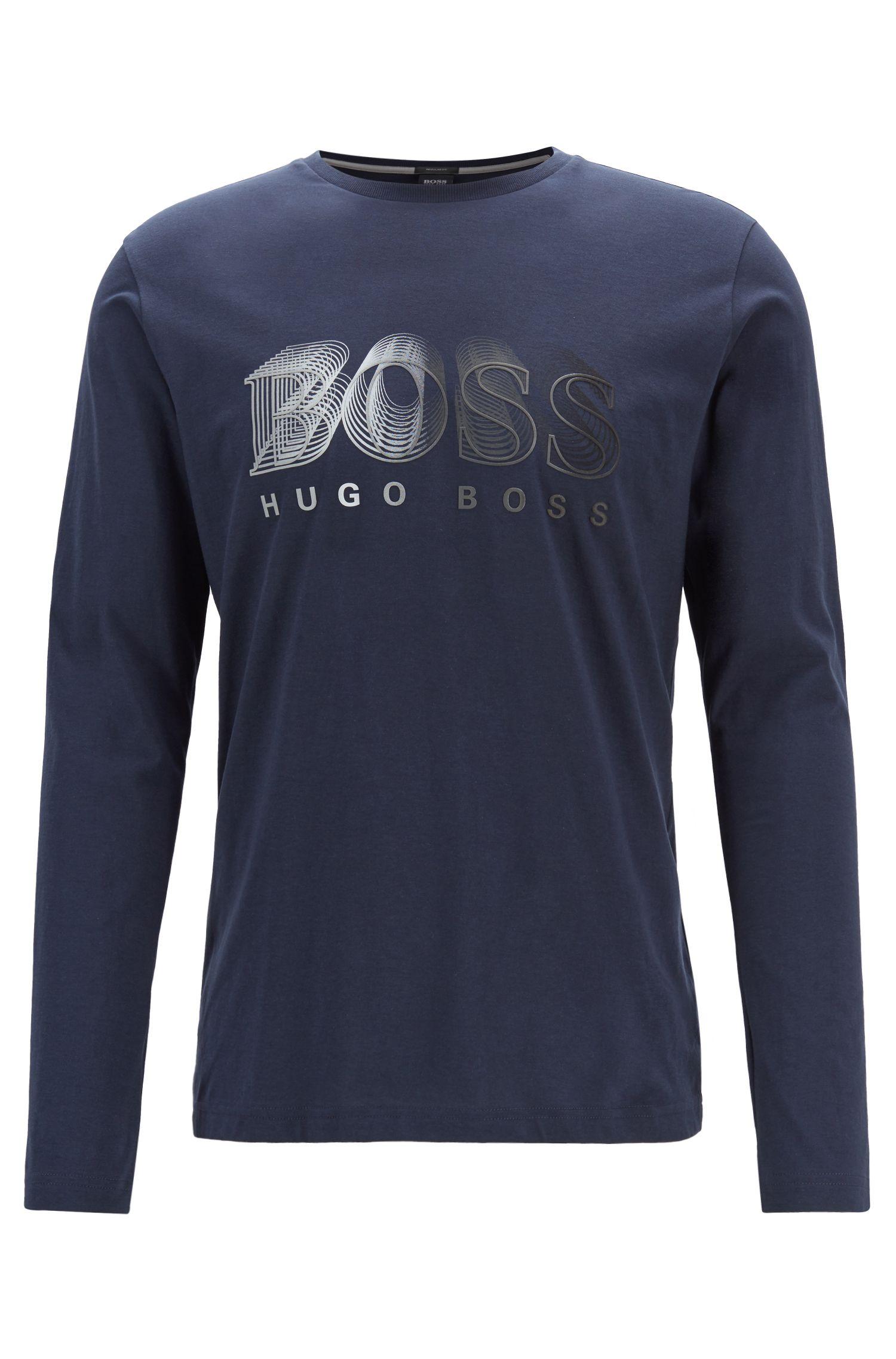 T-shirt à manches longues avec logo graphique multicolore | Tuggl