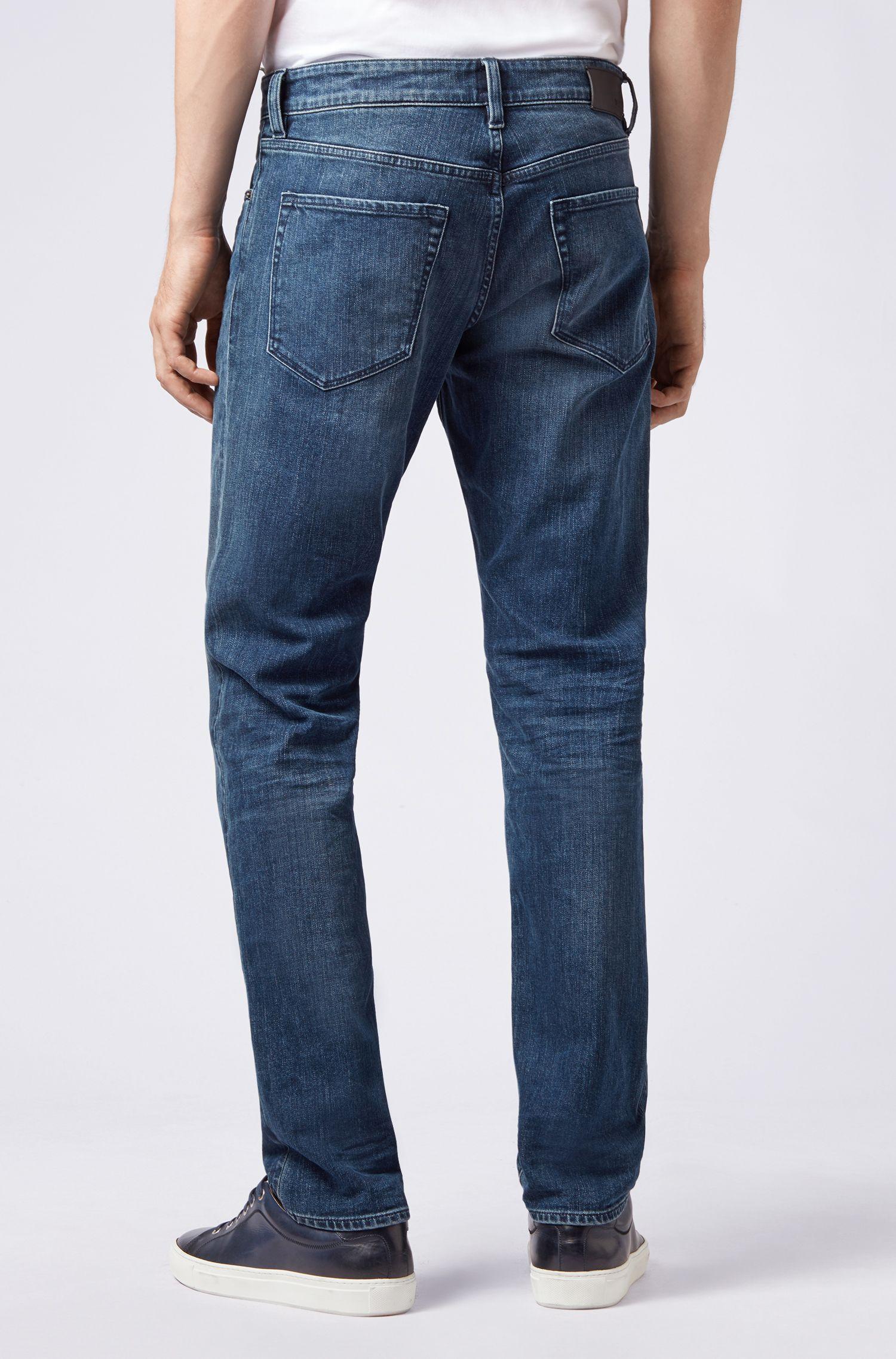 Regular-fit jeans in indigo stretch denim, Blue