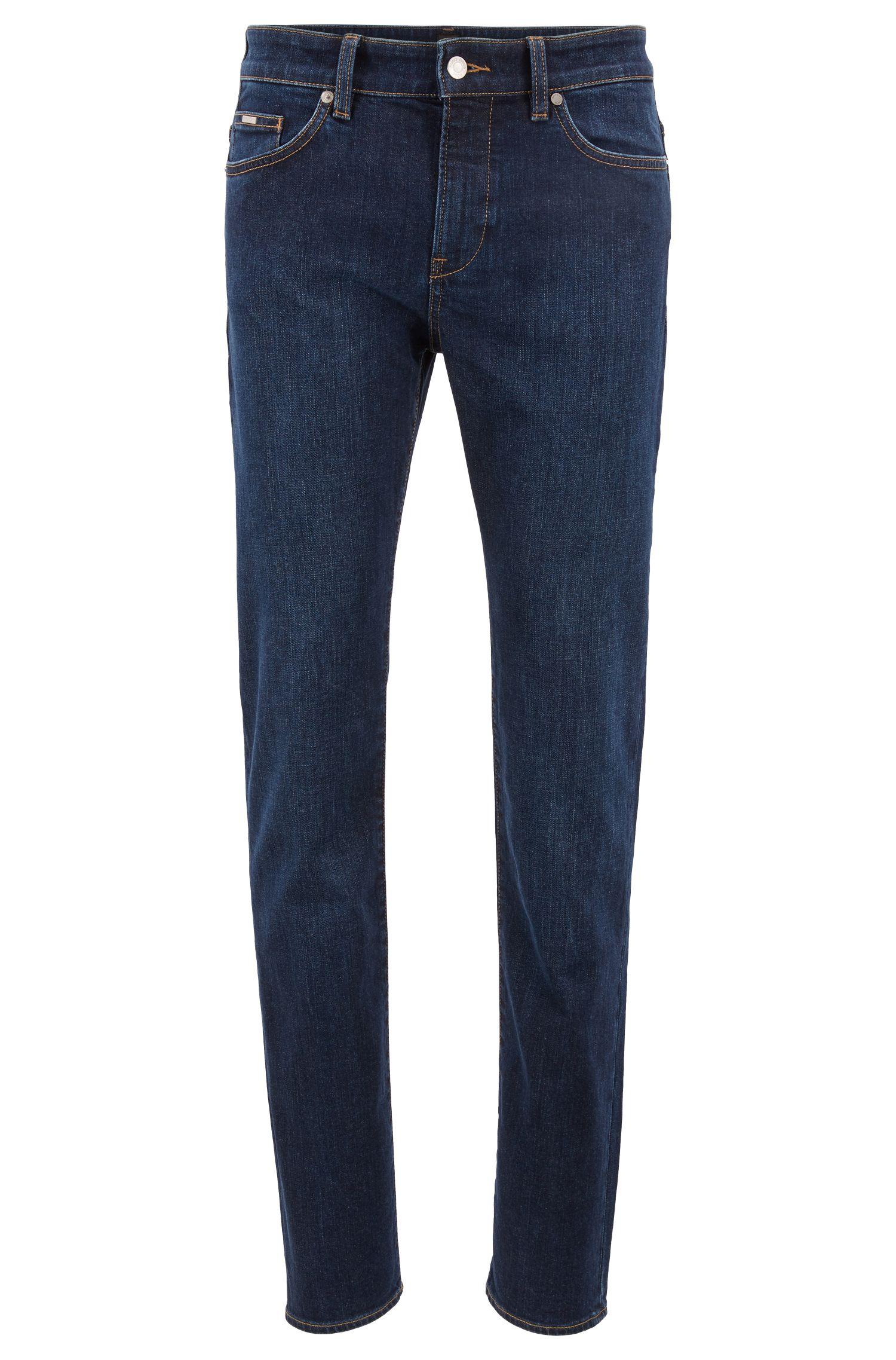 Jeans slim fit in comodo denim indaco elasticizzato, Blu