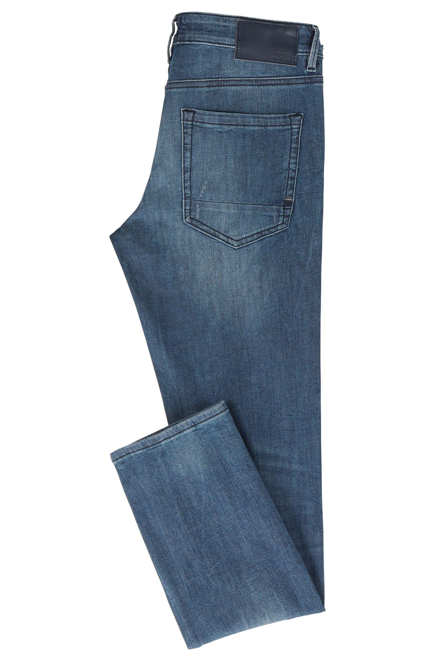 Jean Skinny Fit en maille denim stretch, Bleu