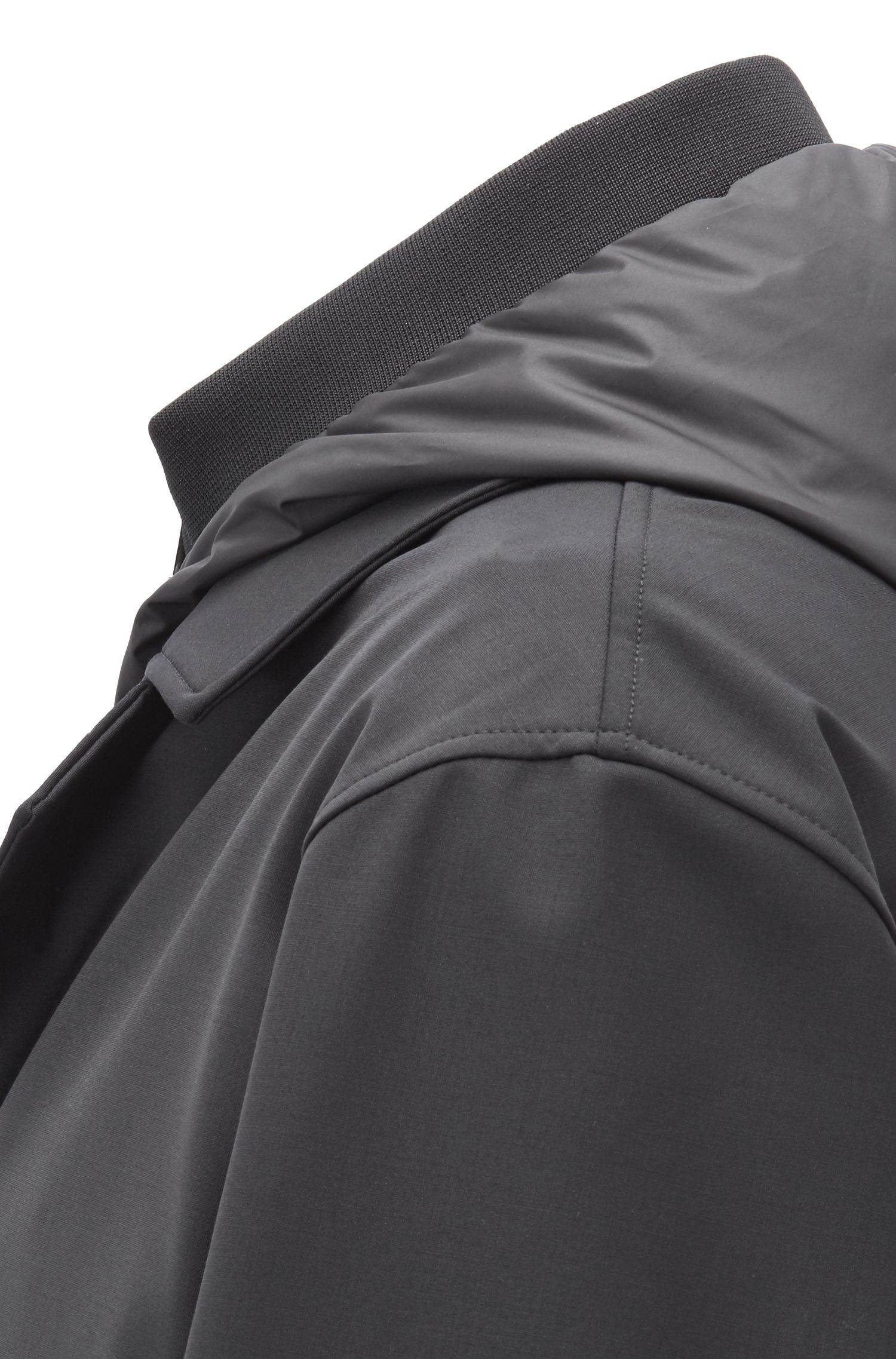 Tailored 3-in-1-Mantel mit wasserabweisendem Finish, Schwarz