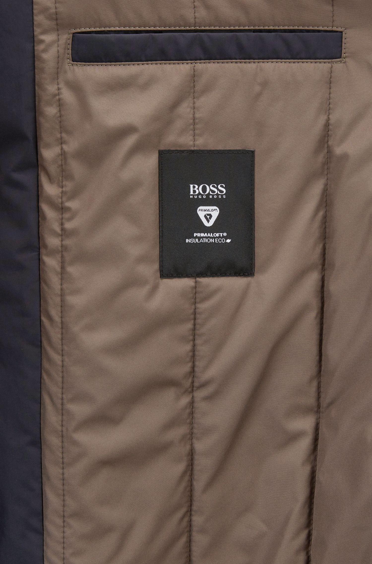 Overjas met opstaande kraag van waterafstotend technisch materiaal, Donkerblauw