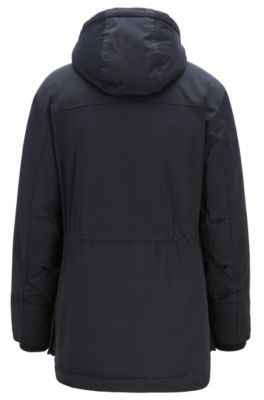 80ad5603c Down-filled parka in technical twill fabric with quilted lining