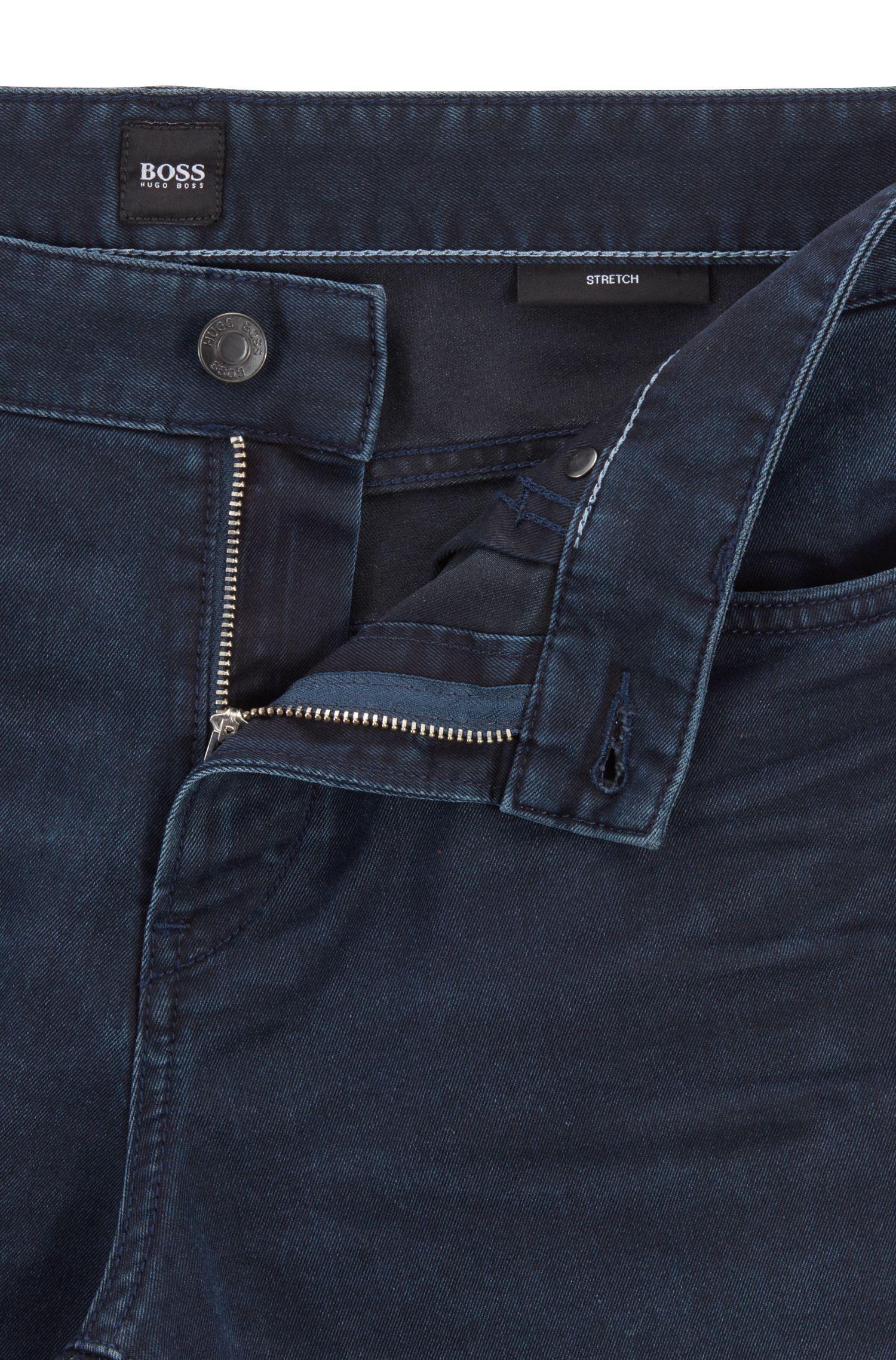 Slim-Fit Jeans aus italienischem Denim, Dunkelblau