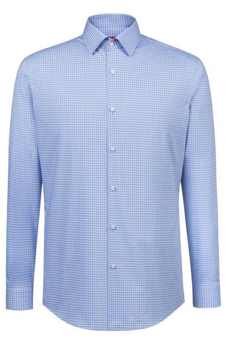 661aaf2806 HUGO - Camisa slim fit en algodón de planchado fácil con cuadros Vichy