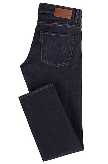 男士中低腰原色牛仔裤,  410_海军蓝色