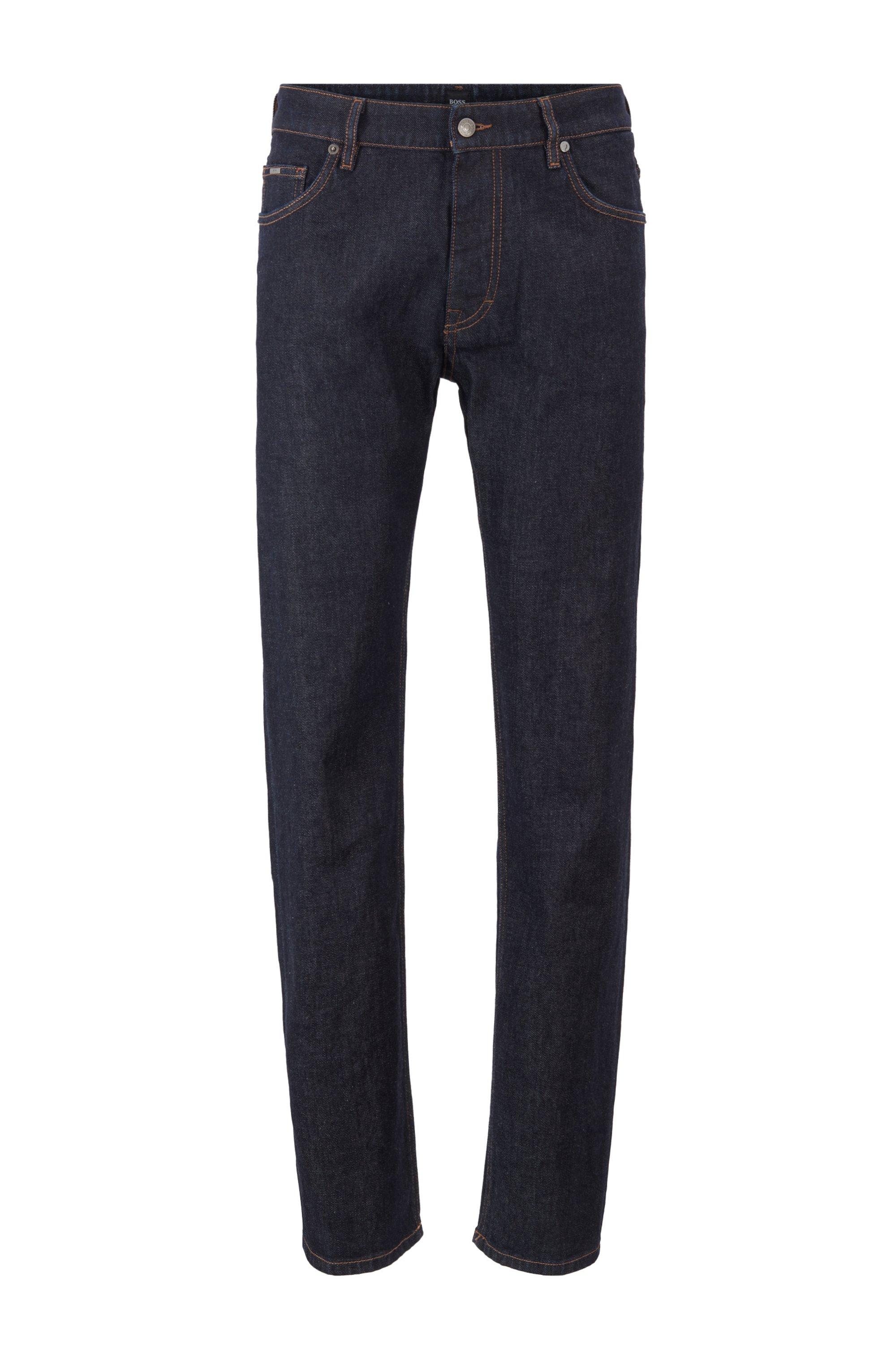 Relaxed-fit jeans van donkerblauw Italiaans stretchdenim, Donkerblauw