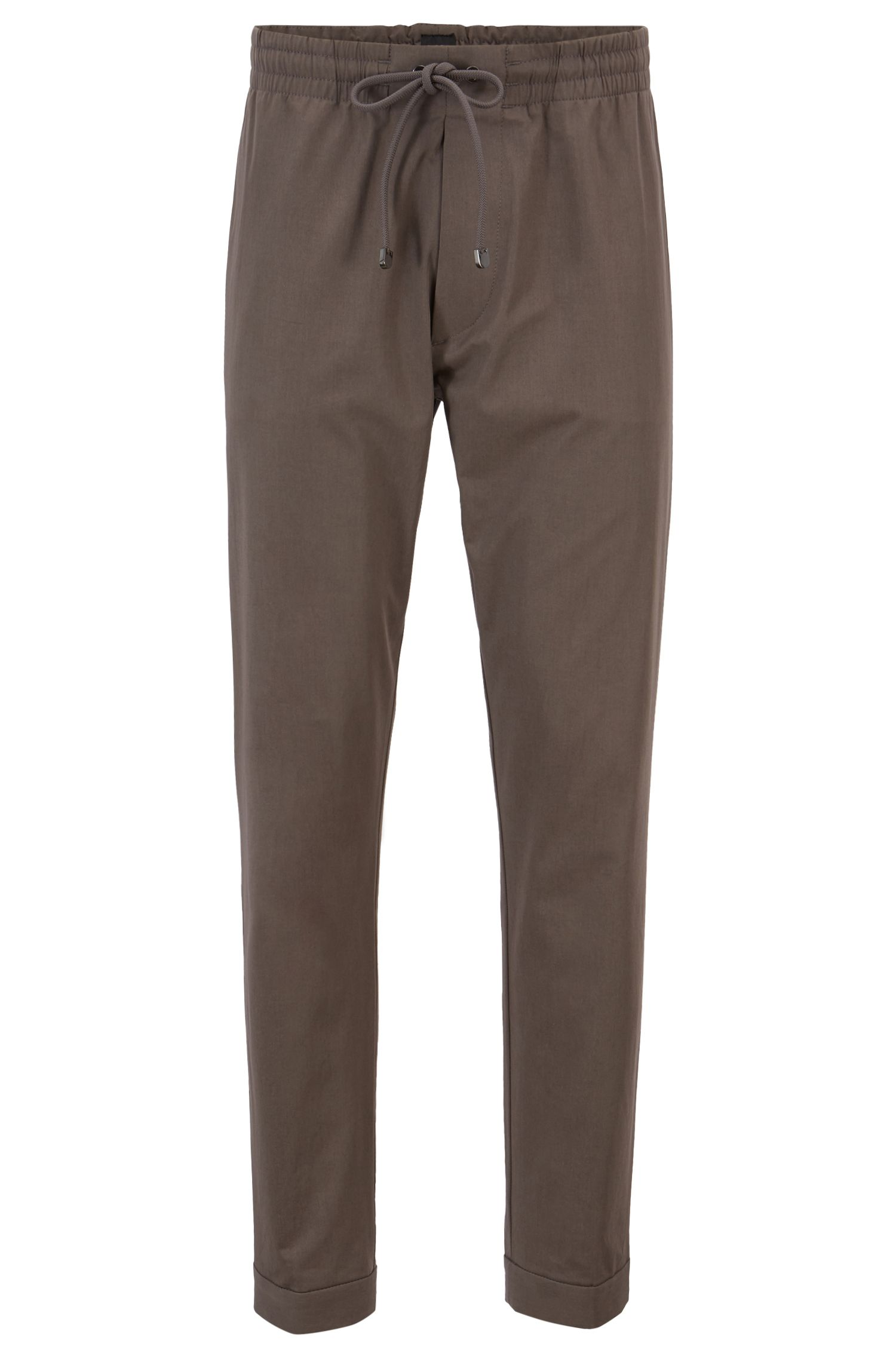 Chino Relaxed Fit en coton stretch italien léger, Gris