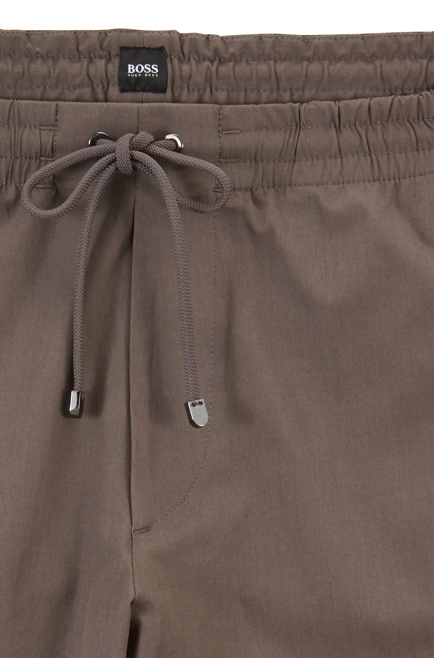 Relaxed-fit chinos in lightweight Italian stretch cotton, Grey