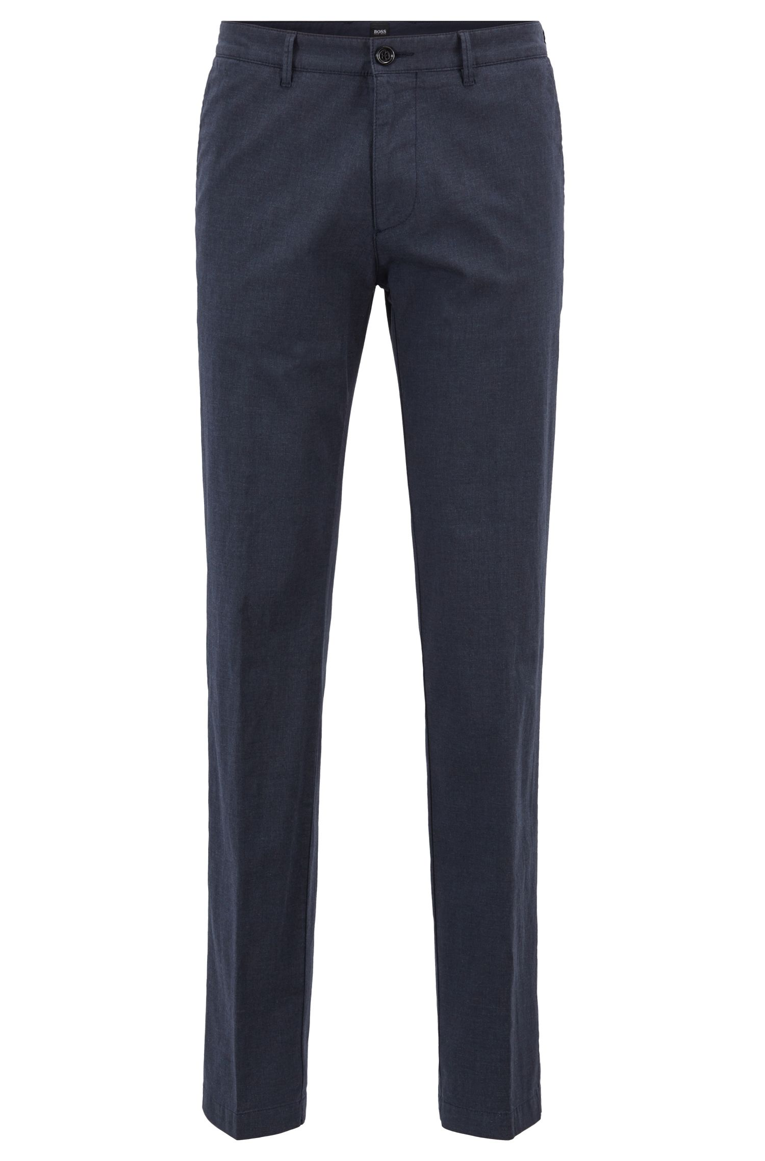 Hugo Boss - Regular-Fit Chino aus melierter Stretch-Baumwolle - 1