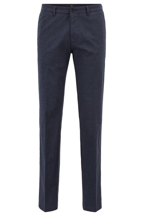 Hugo Boss - Chinos regular fit en algodón elástico jaspeado - 1