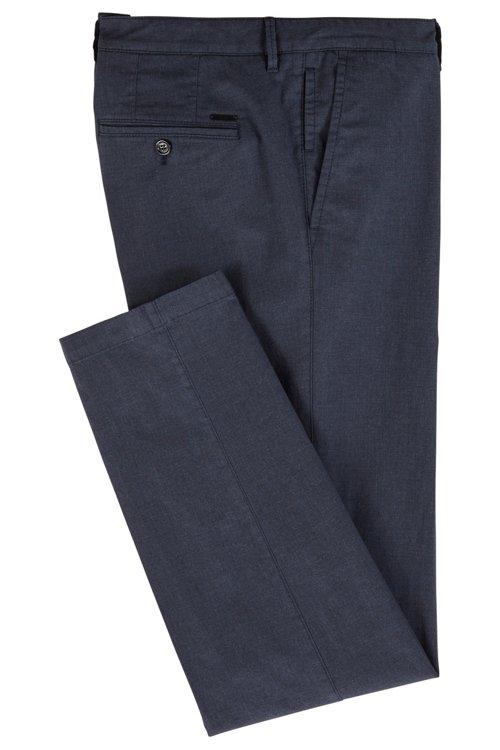 Hugo Boss - Chinos regular fit en algodón elástico jaspeado - 3
