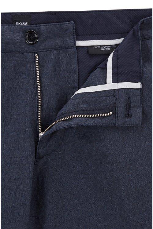 Hugo Boss - Chinos regular fit en algodón elástico jaspeado - 5