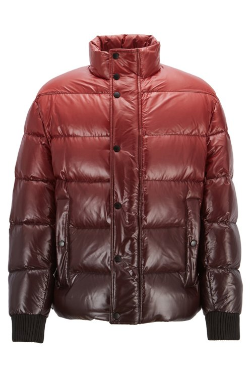 Hugo Boss - Oversized-fit down jacket in ombré-effect water-repellent fabric - 1