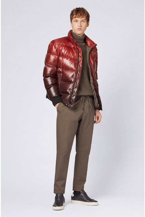 Hugo Boss - Oversized-fit down jacket in ombré-effect water-repellent fabric - 2