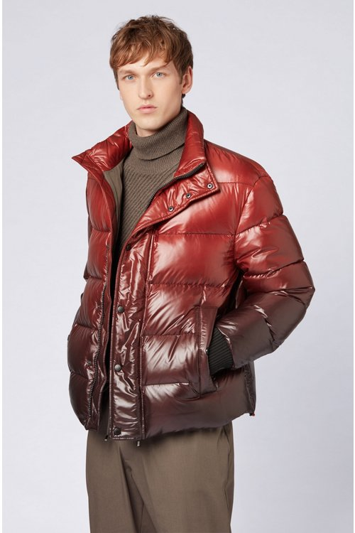 Hugo Boss - Oversized-fit down jacket in ombré-effect water-repellent fabric - 4