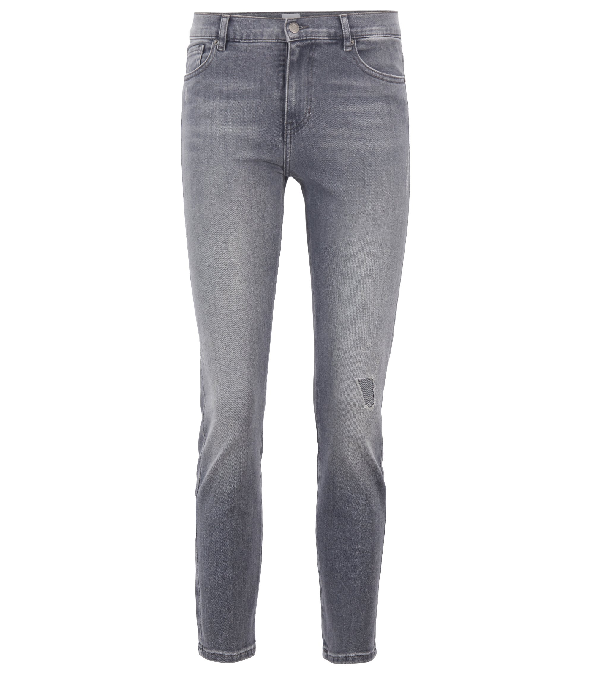 Slim-fit jeans in grey power-stretch denim, Grey