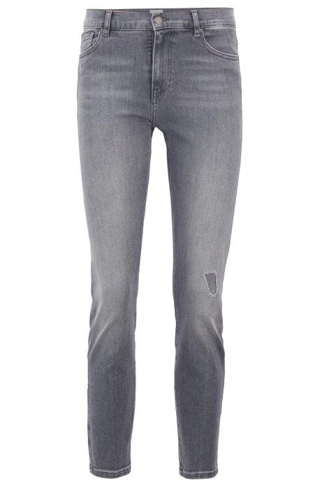 Jeans slim fit in denim grigio super-elasticizzato, Grigio