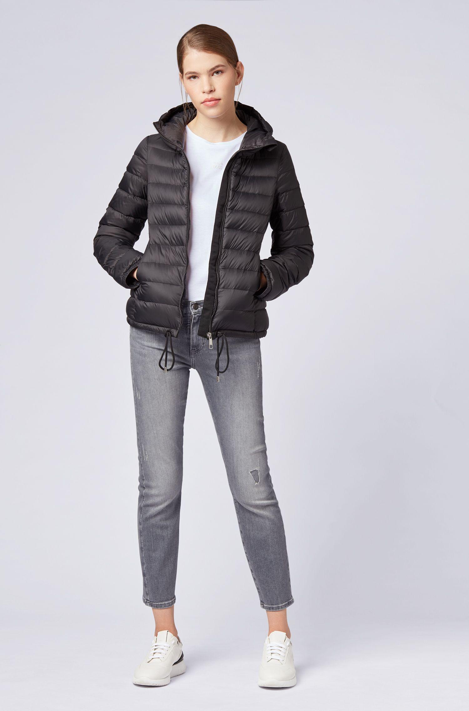 Slim-fit jeans van grijs superelastisch denim, Grijs