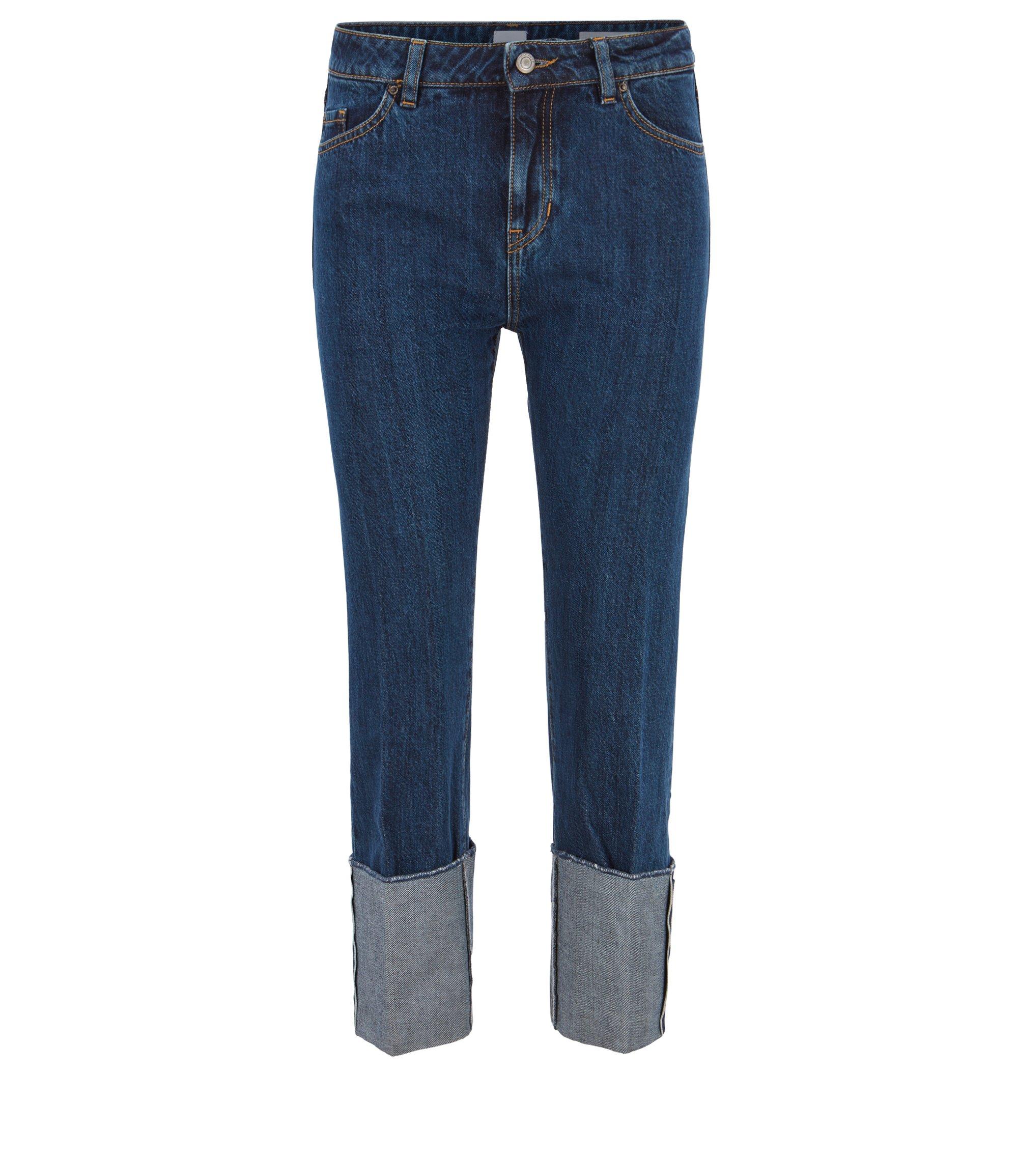 Boyfriend-jeans van Italiaans selvedge-denim, Blauw