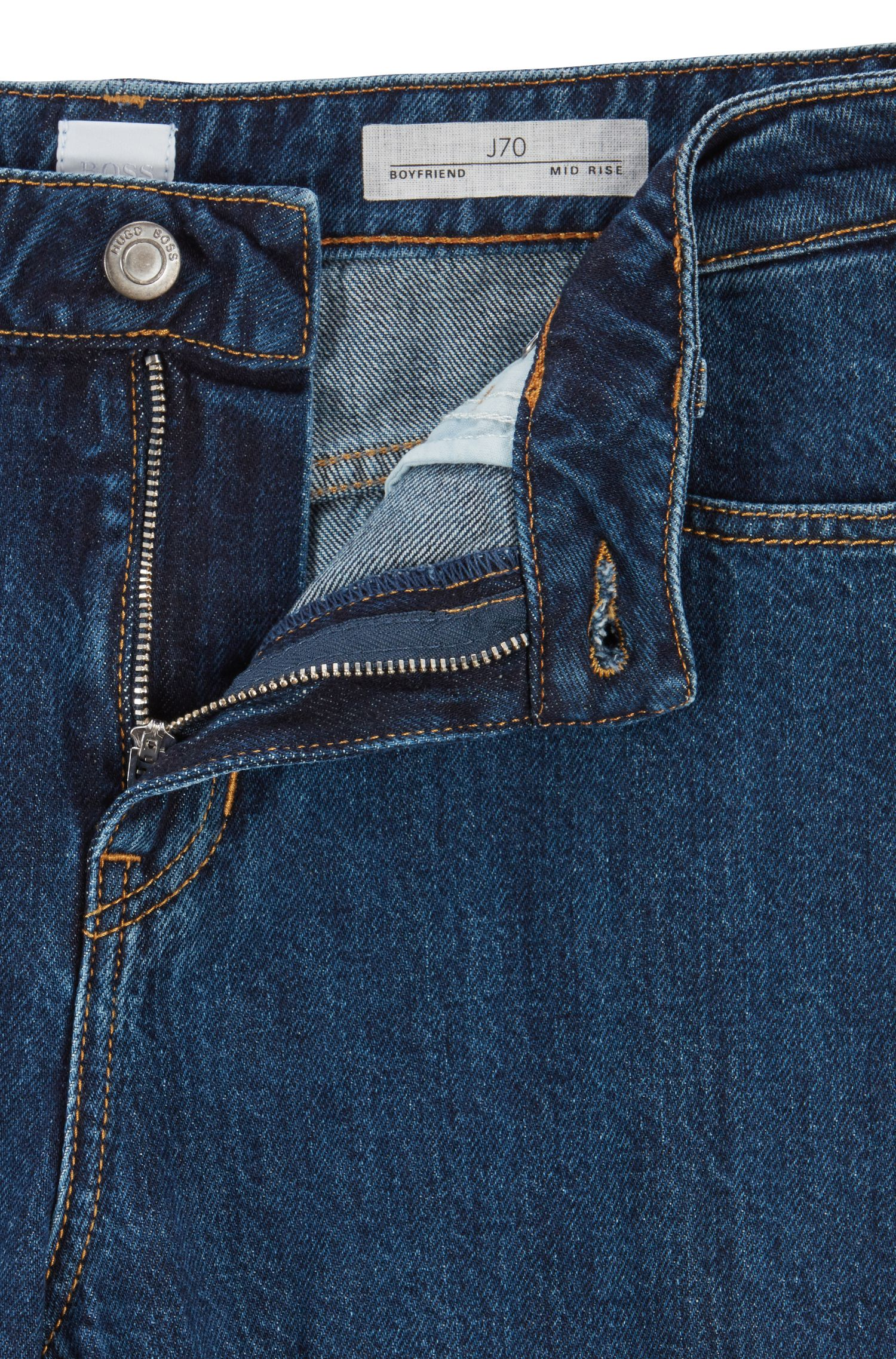 Boyfriend jeans in Italian selvedge denim, Blue