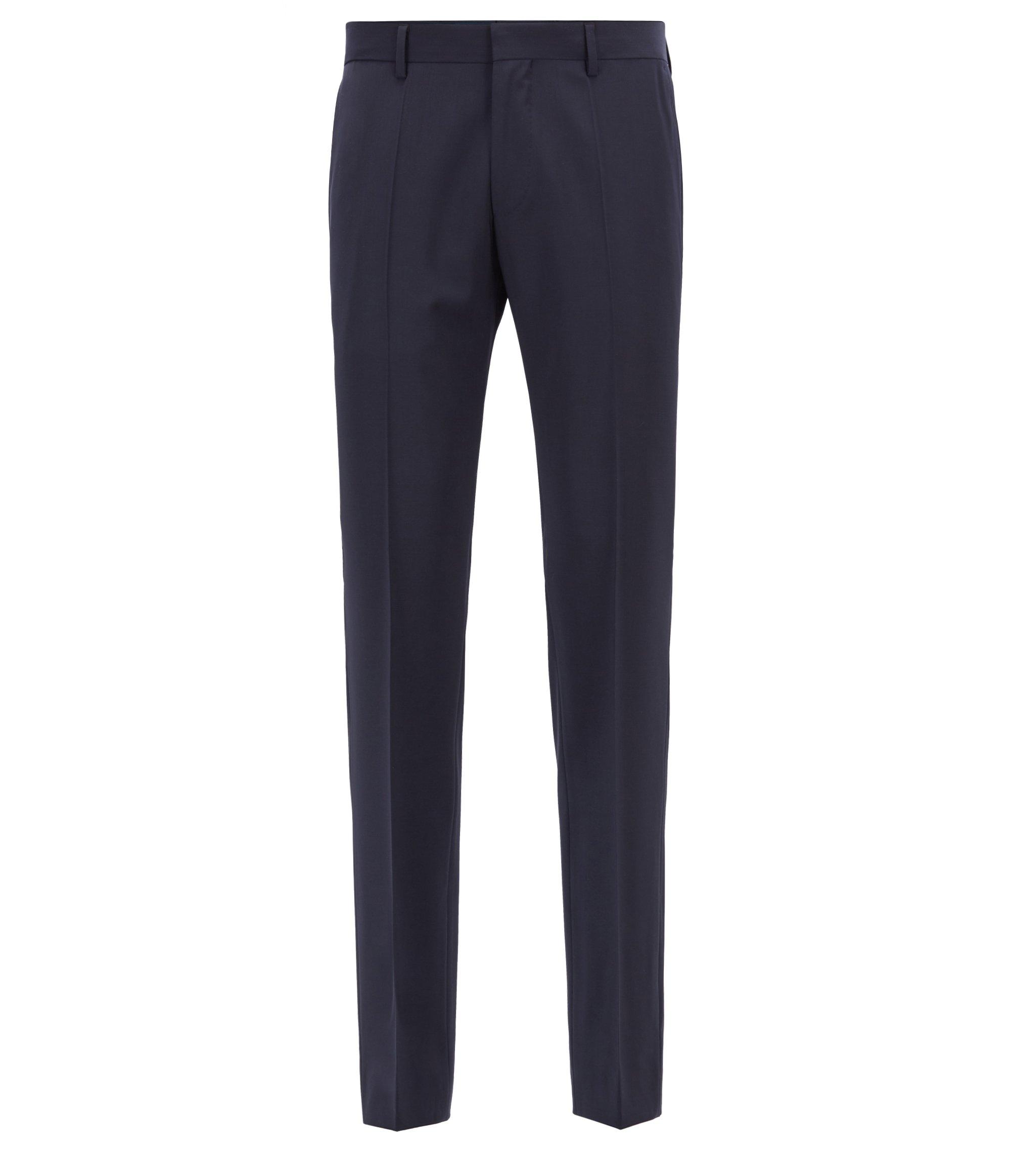 Slim-fit broek van scheerwol en kasjmier, Donkerblauw