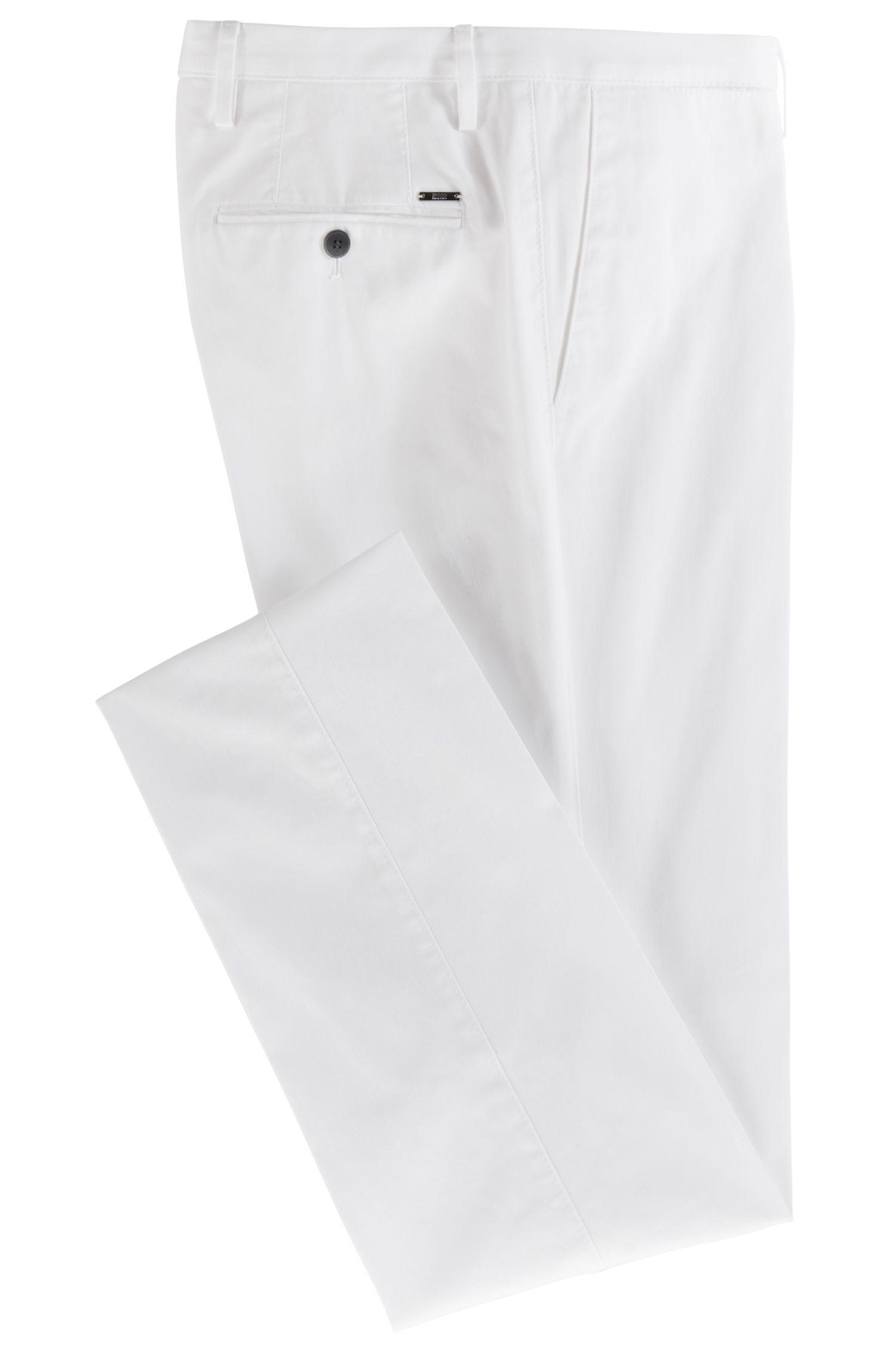 Hugo Boss - Pantalones slim fit de algodón elástico teñido en prenda - 4