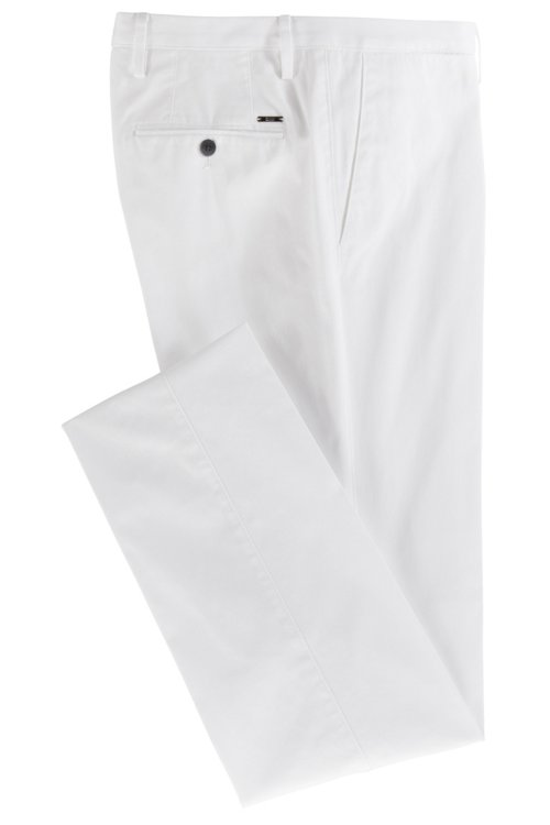 Hugo Boss - Slim-fit trousers in garment-dyed stretch cotton - 4