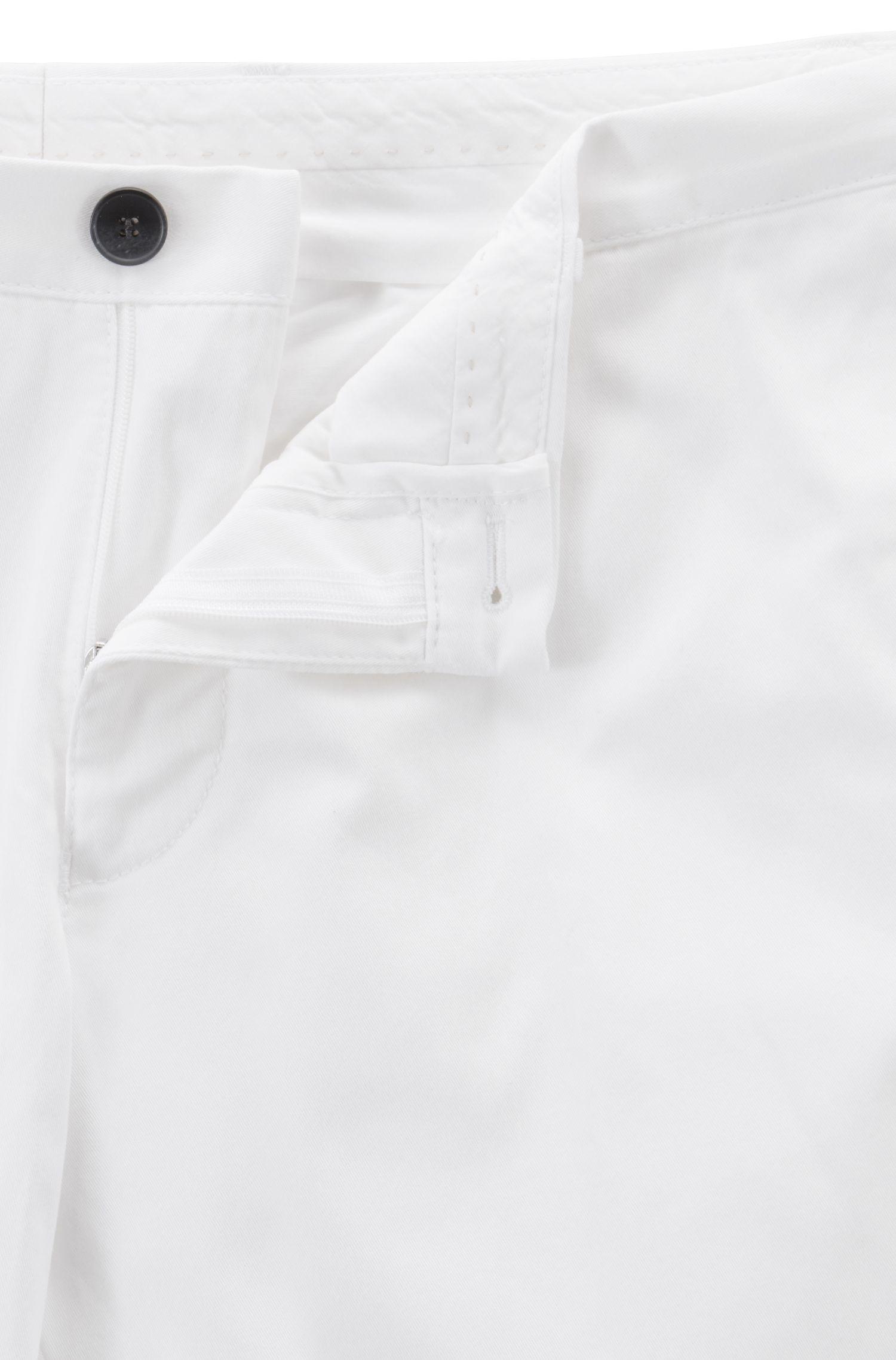 Hugo Boss - Pantalones slim fit de algodón elástico teñido en prenda - 5