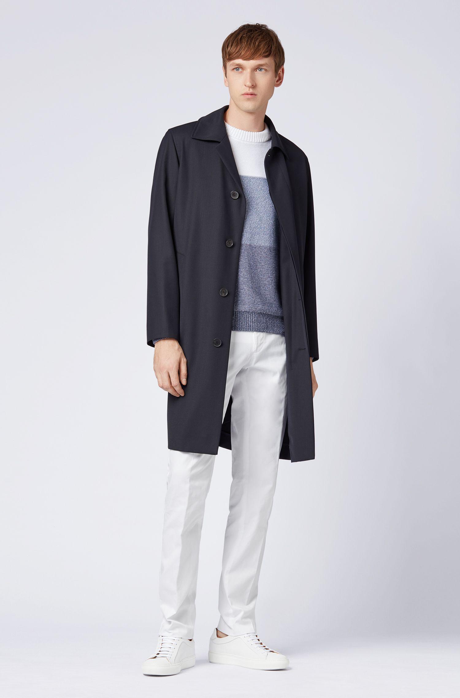 Hugo Boss - Pantalones slim fit de algodón elástico teñido en prenda - 2
