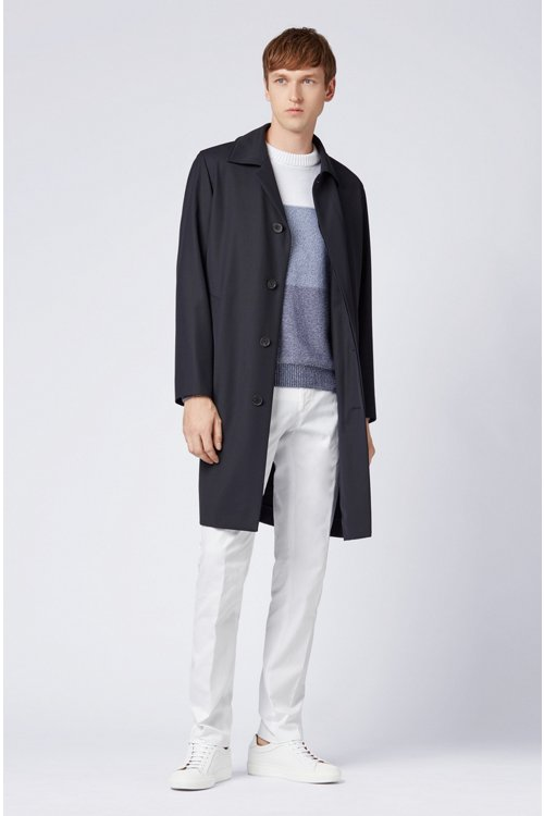 Hugo Boss - Slim-fit trousers in garment-dyed stretch cotton - 2