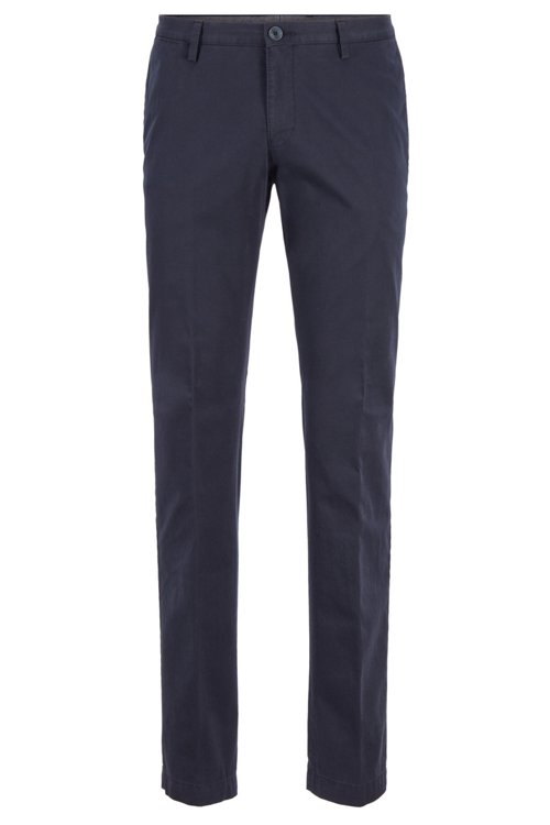 Hugo Boss - Stückgefärbte Slim-Fit Hose aus Stretch-Baumwolle - 1