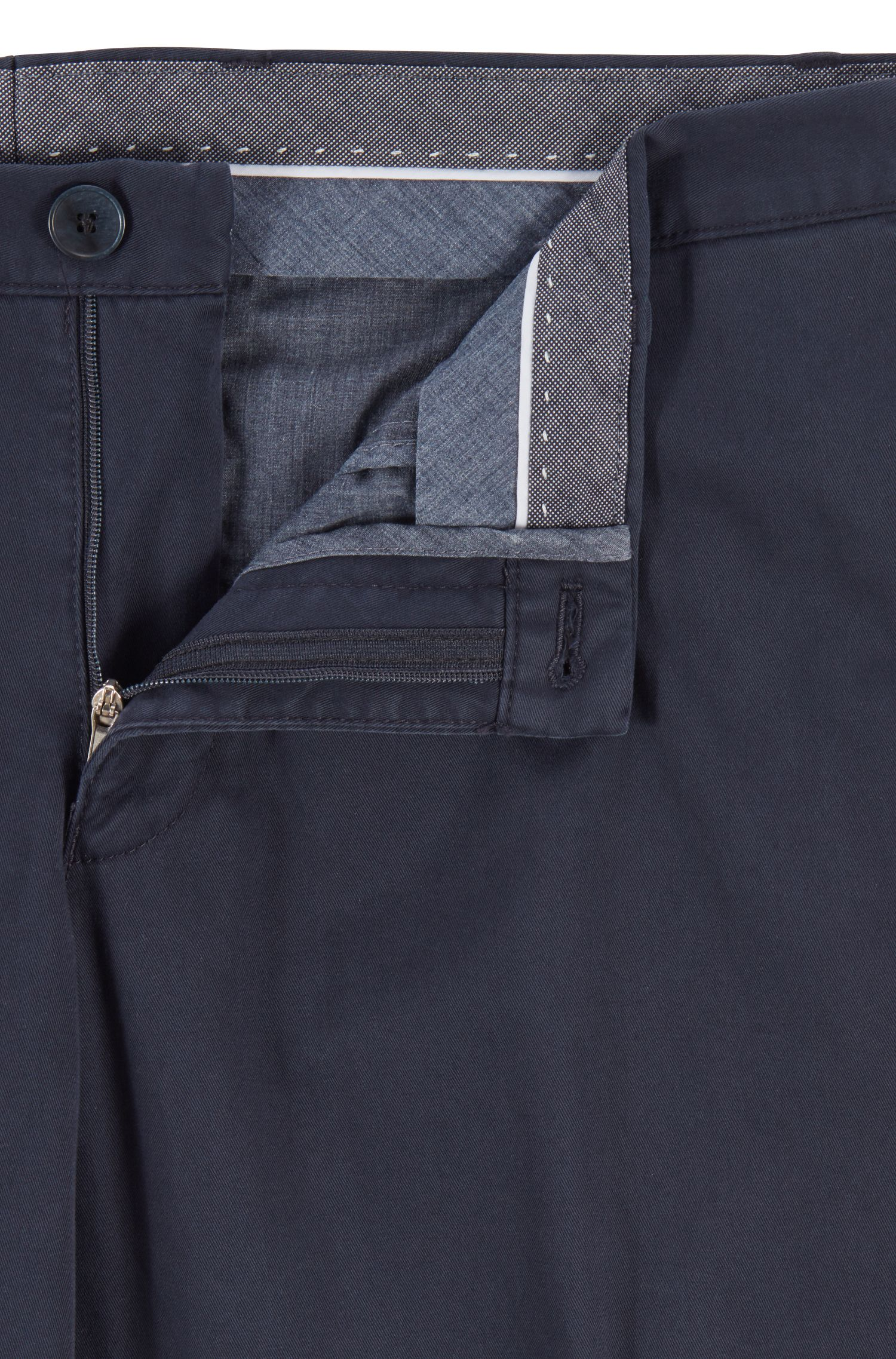 Hugo Boss - Slim-fit trousers in garment-dyed stretch cotton - 5