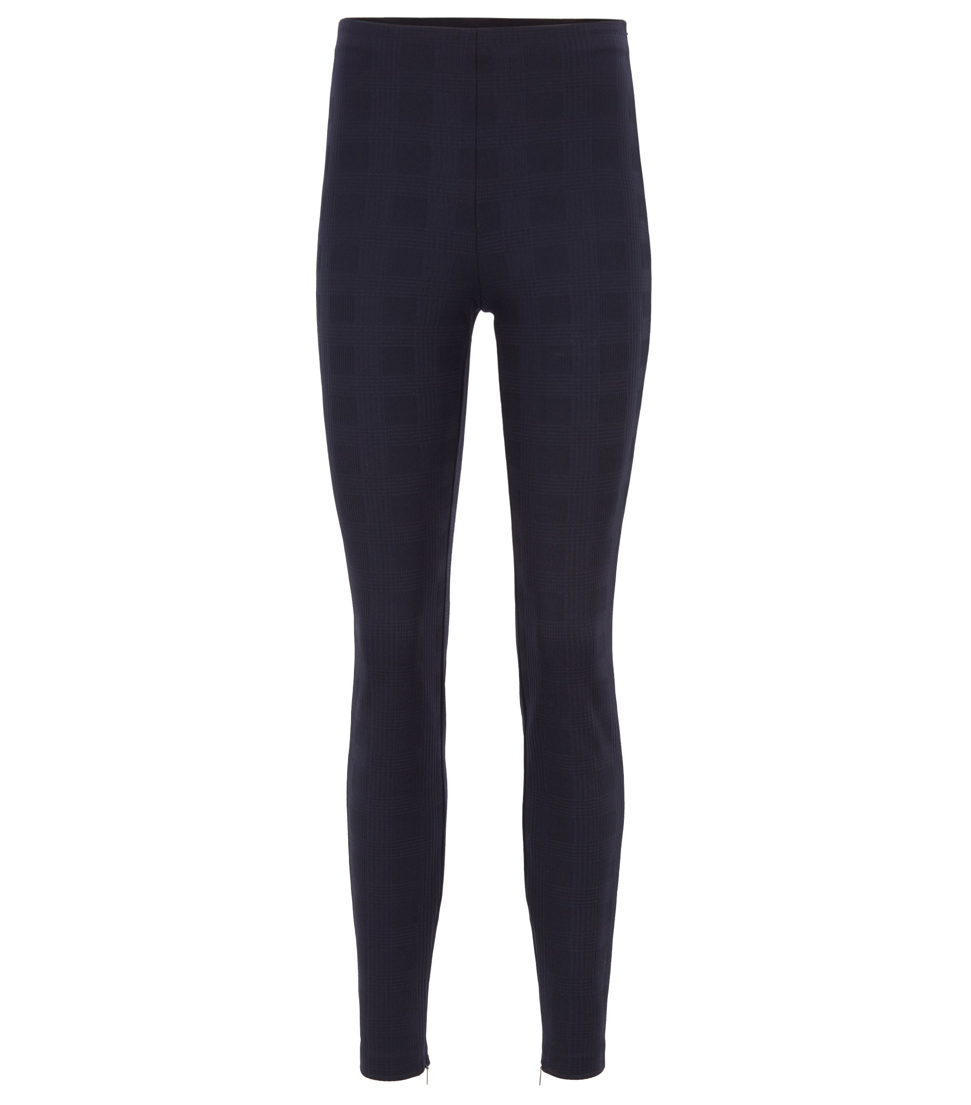 Extra-slim-fit trousers in Italian stretch jersey, Dark Blue