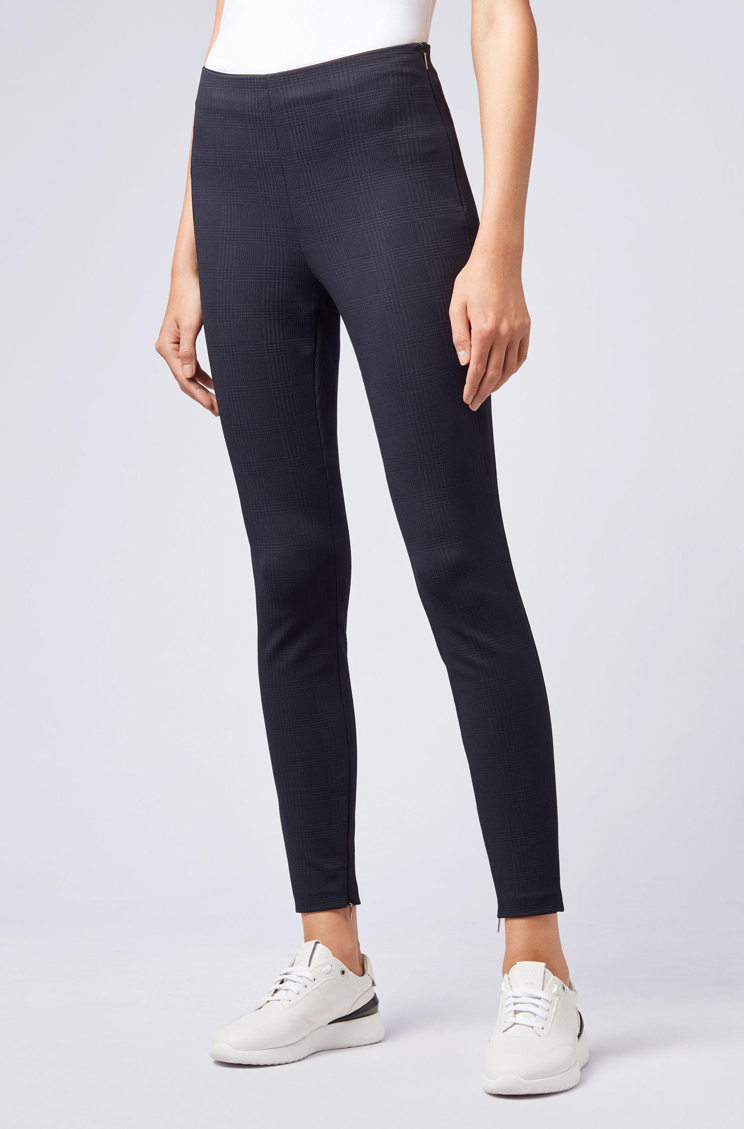 Extra-slim-fit trousers in Italian stretch jersey, Dark Blue