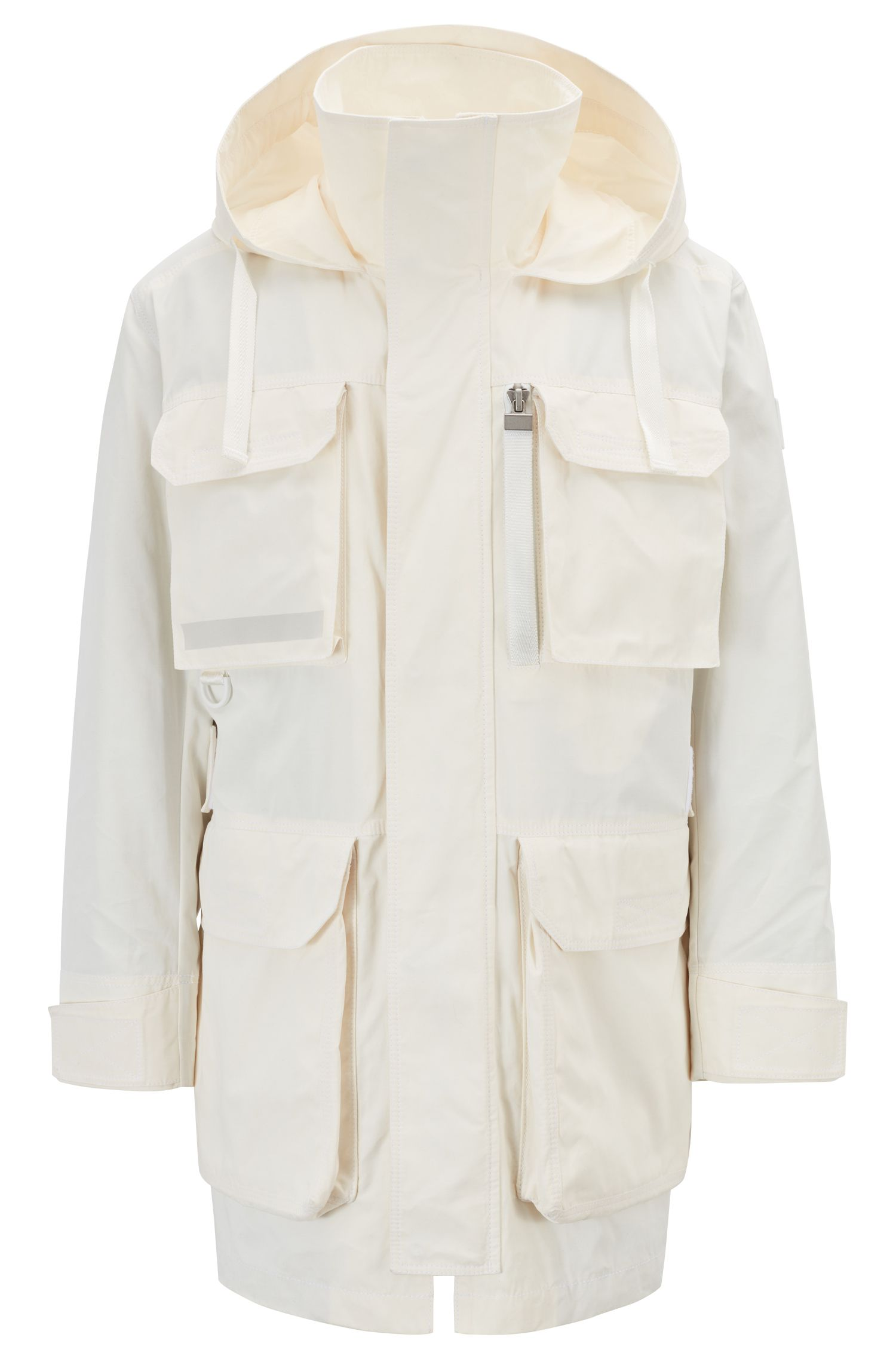 Hugo Boss - Water-repellent waxed-canvas parka with PrimaLoft® padding - 1