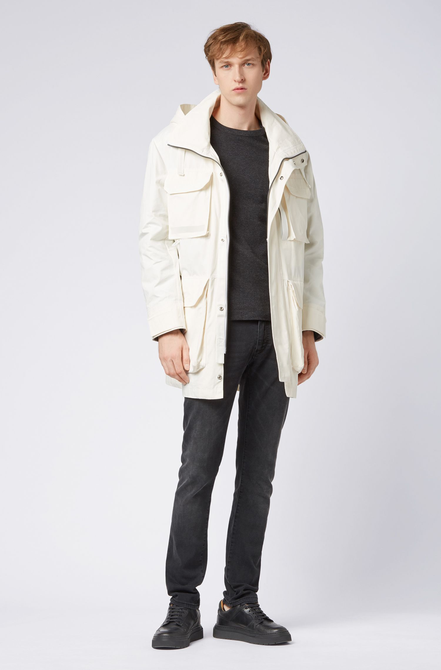 Hugo Boss - Water-repellent waxed-canvas parka with PrimaLoft® padding - 2